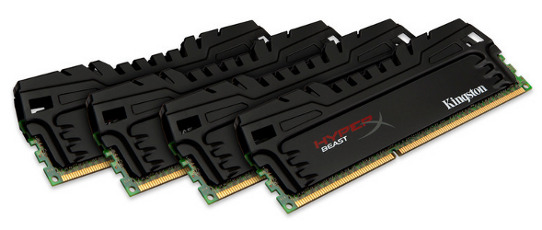 Image of 32GB DDR3-1866MHz Kingston Beast XMP, 4x8GB